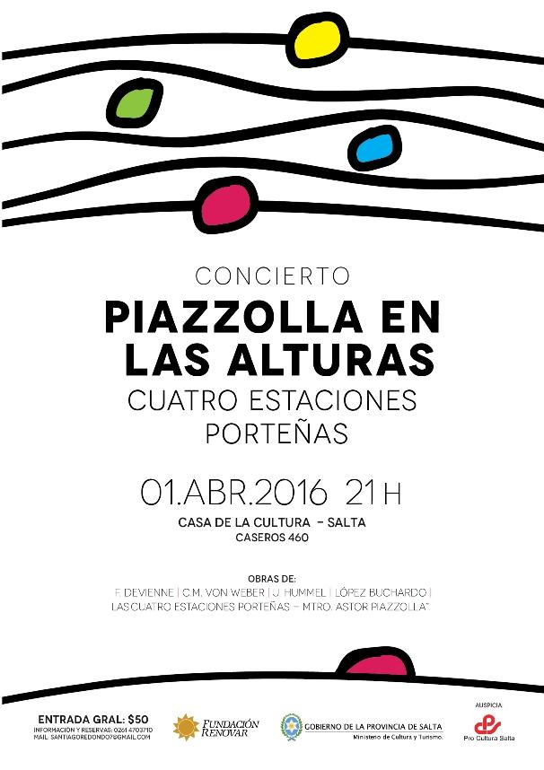 Un concierto para no perderse: Piazzolla en las Alturas